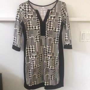 Jules & Leopold houndstooth shift dress